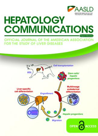 August 2019 cover of Hepatology Communications journal
