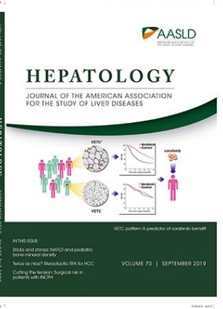 September 2019 cover of HEPATOLOGY journal