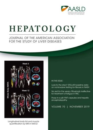 November 2019 cover of HEPATOLOGY journal