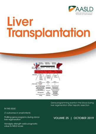 October 2019 cover for Liver Transplantation