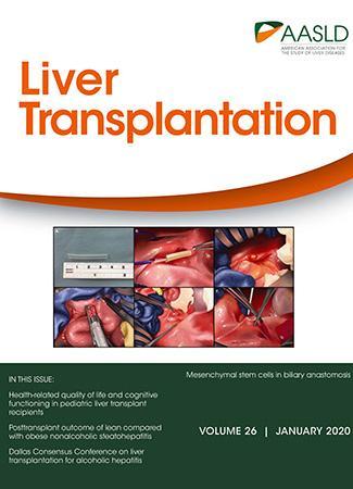 January 2020 cover of Liver Transplantation journal